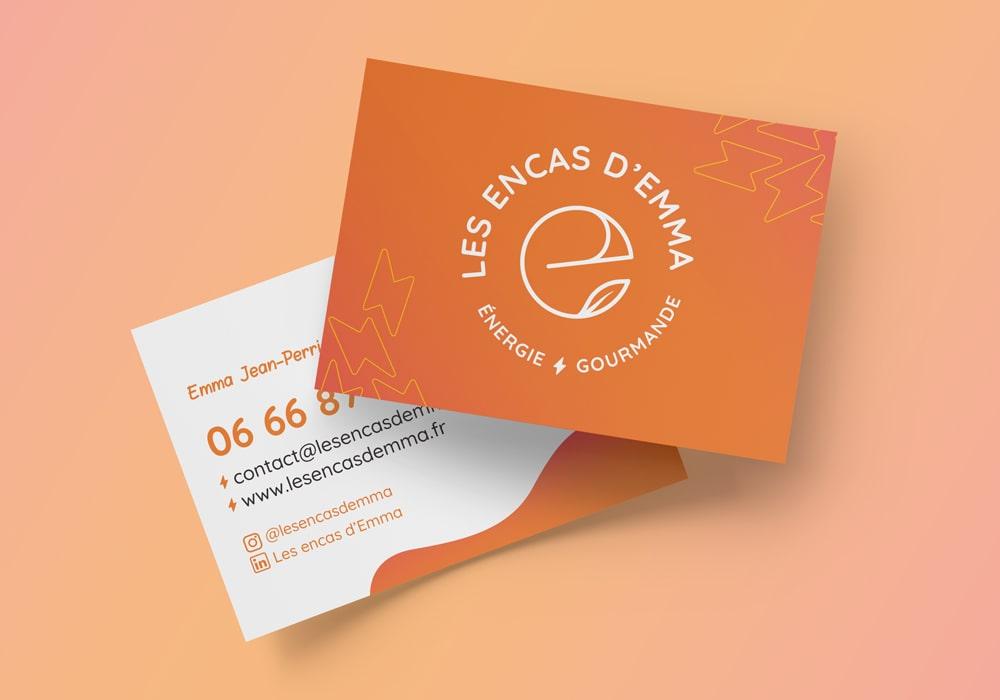 Naöms graphiste communication Albertville logo les encas d'Emma