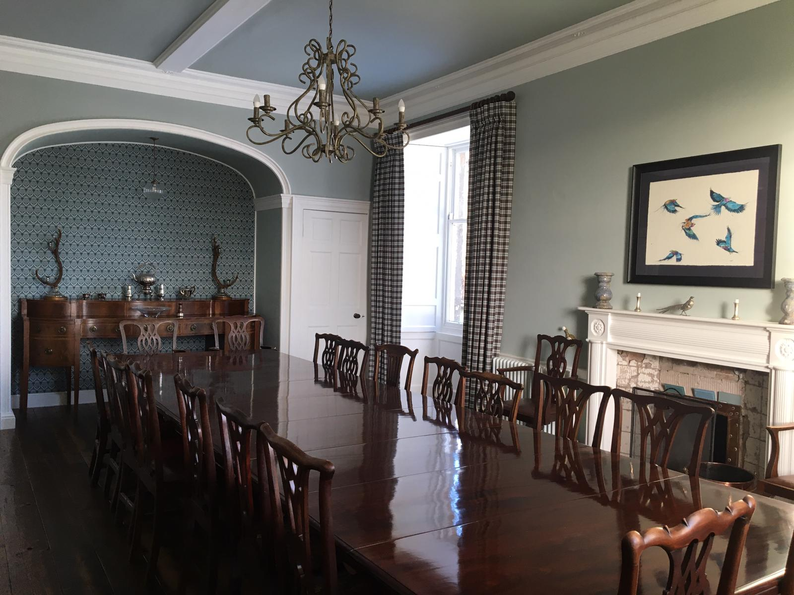 Traditional dining room with a modern feel