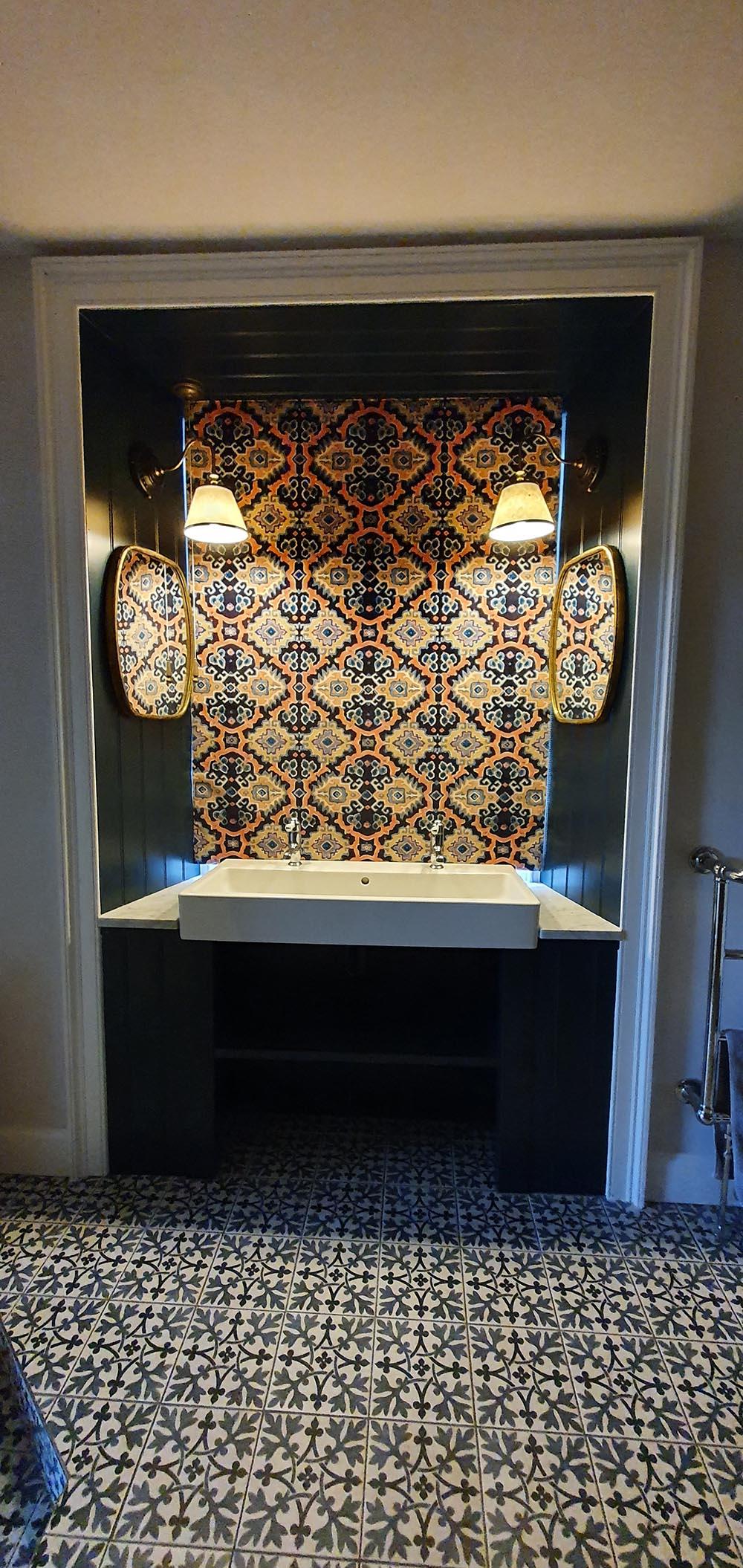 Velvet bathroom blind