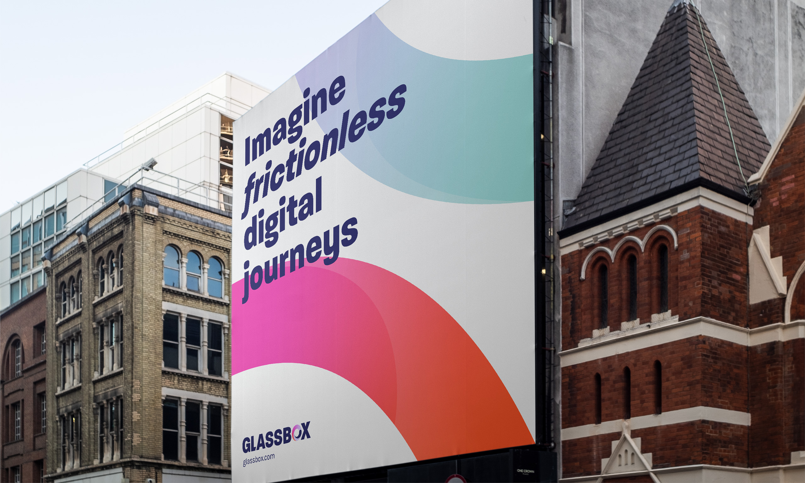 Giant billboard banner in city