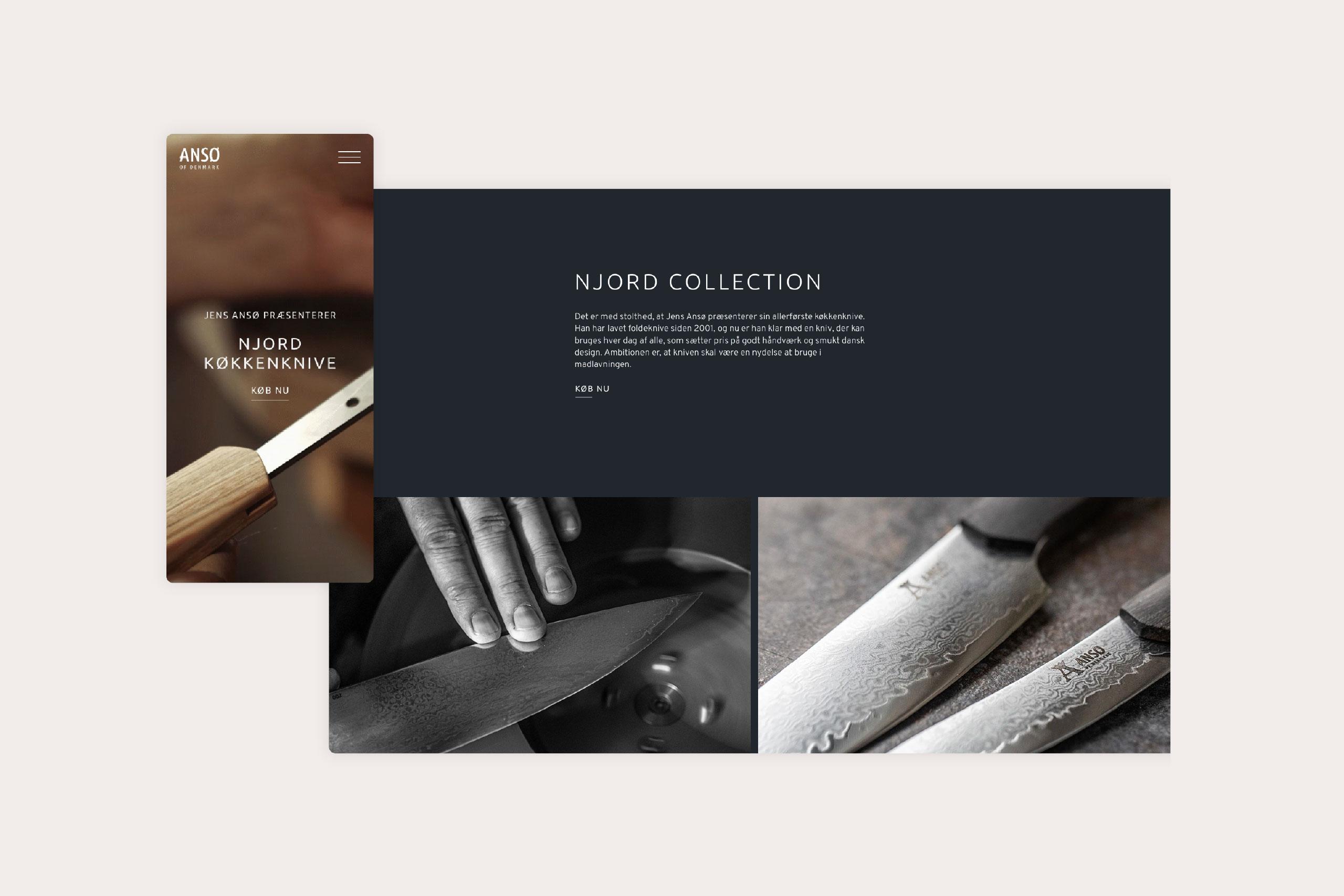 Website selling kitchen knives