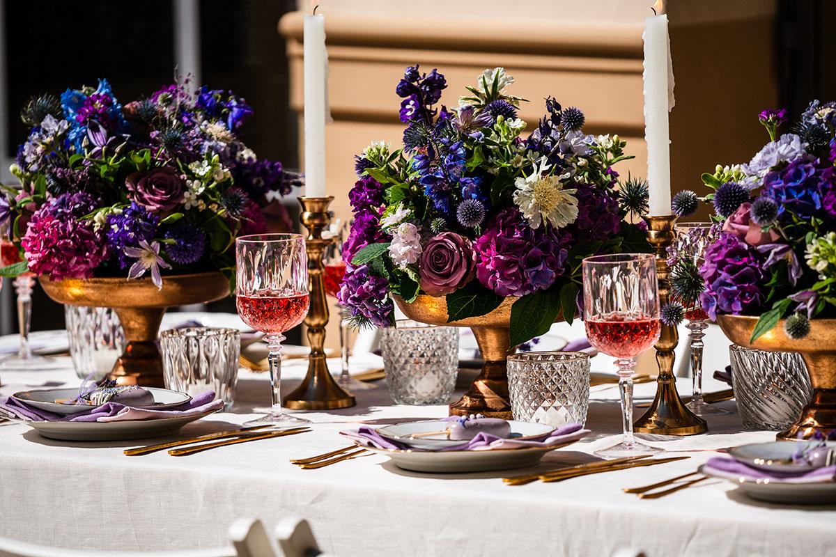 Purple Love Hochzeitsdeko in Lila