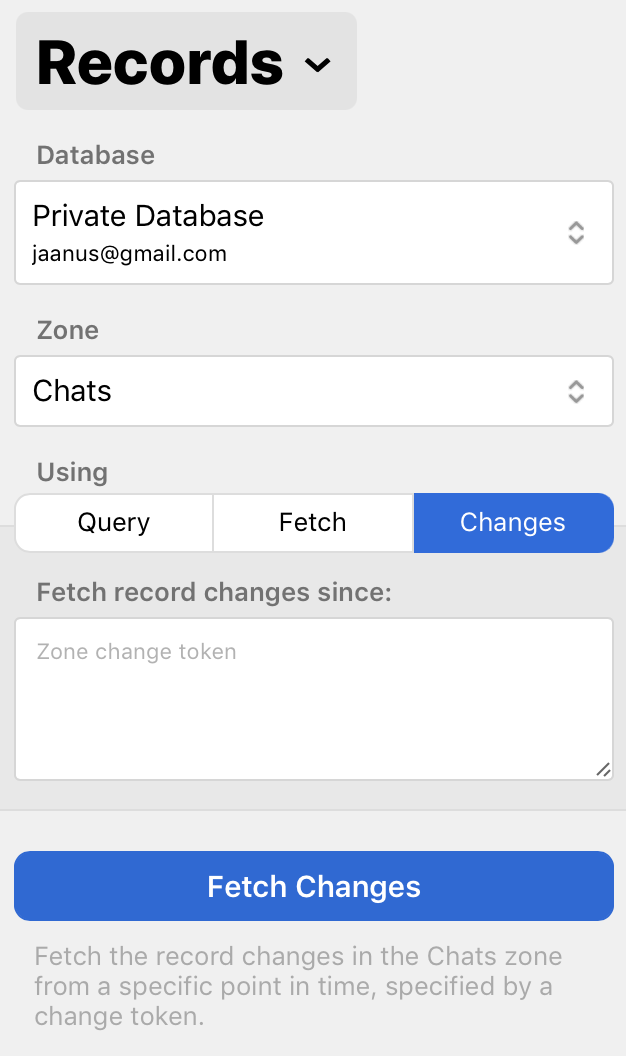 Fetching record zone changes