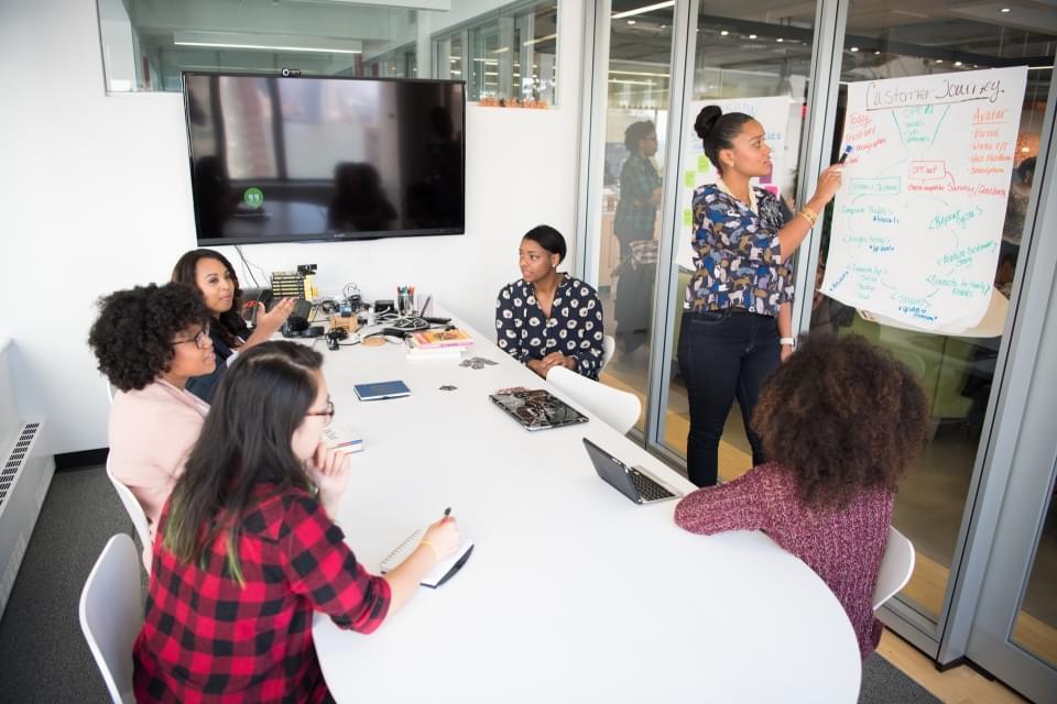 Team disskutiert IT-Projekt
