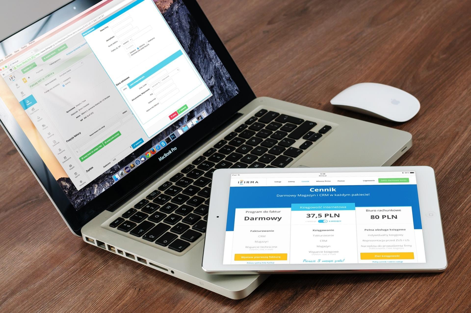 Fertige Web-App auf PC und Tablet