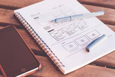 Skizze für App Design