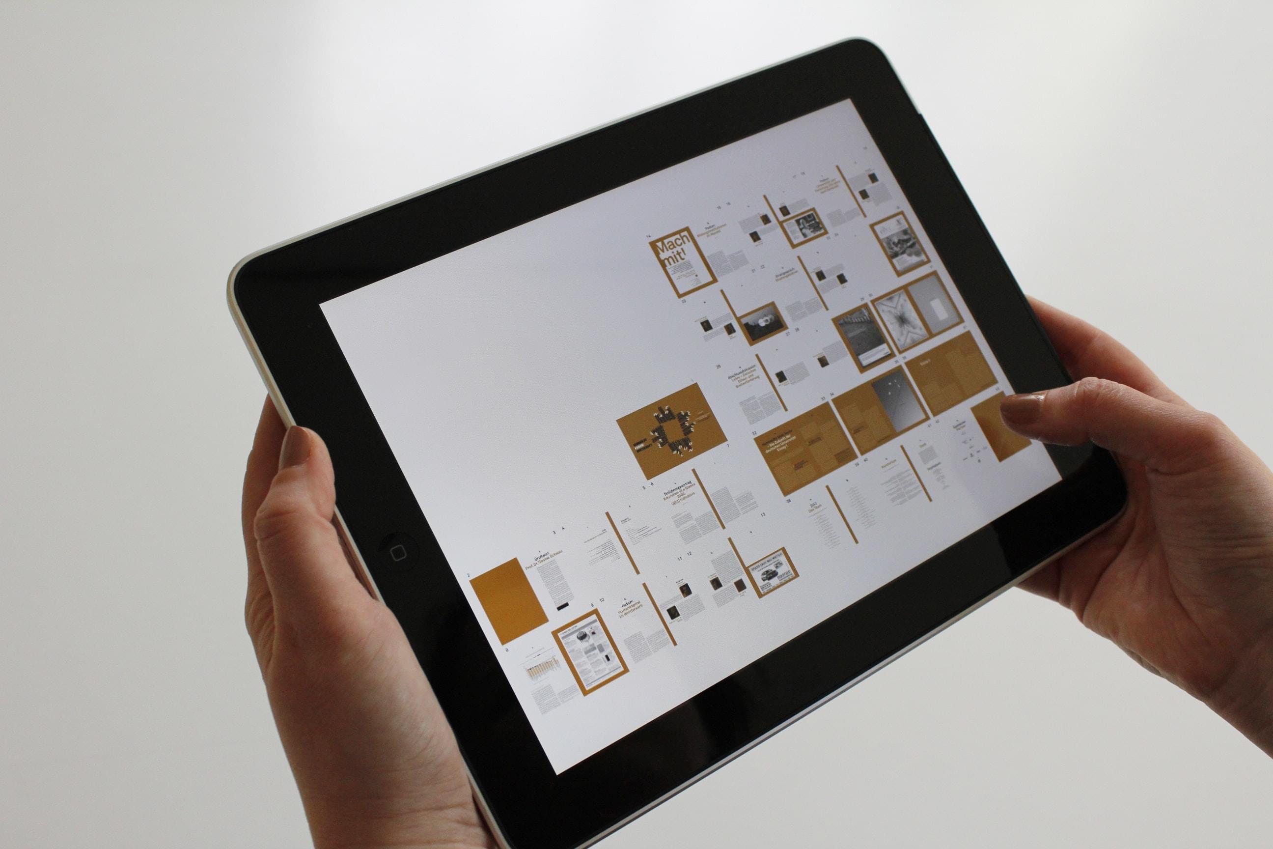 Baukasten auf Tablet