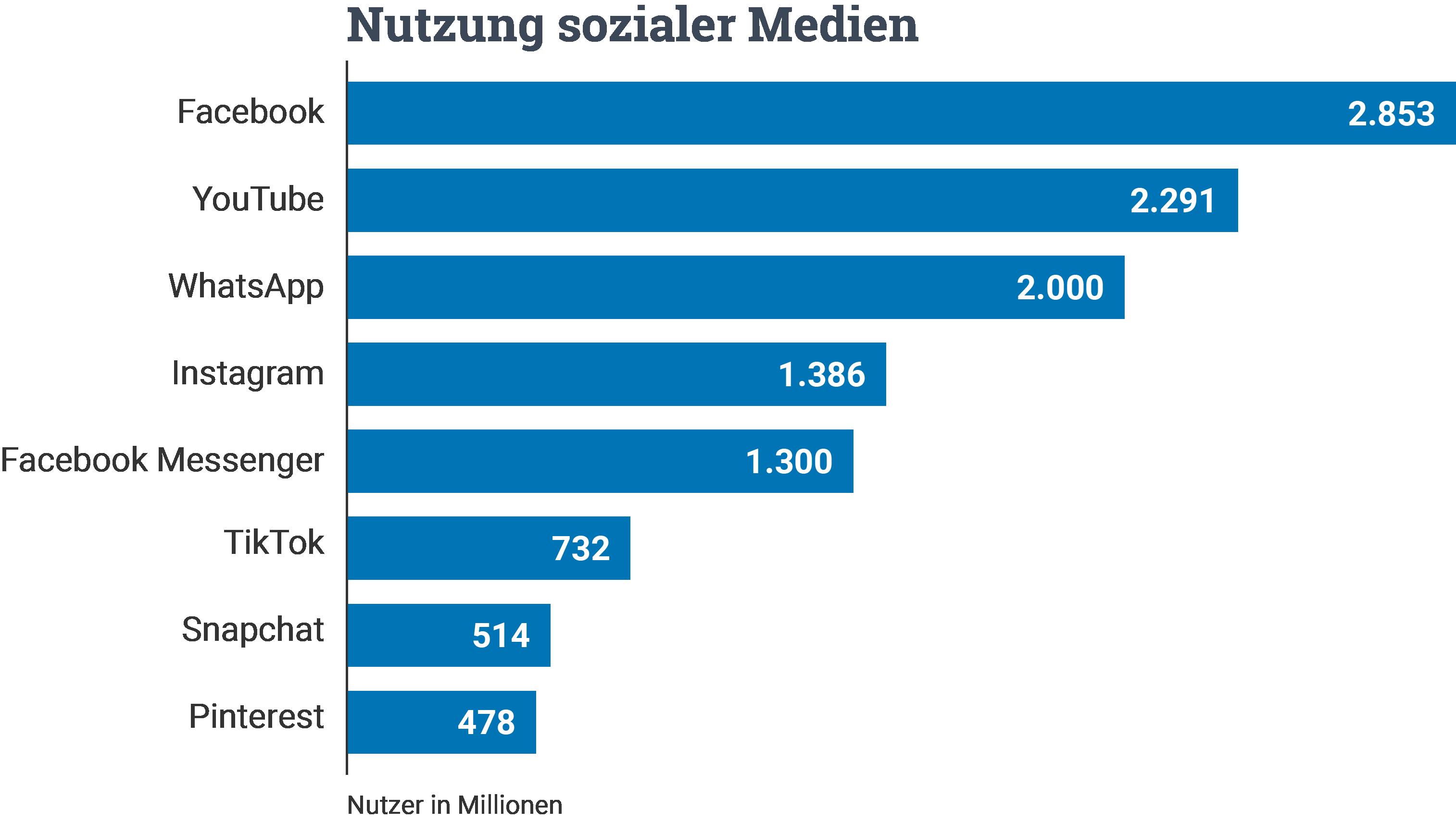 Nutzung soziale Medien Statistik