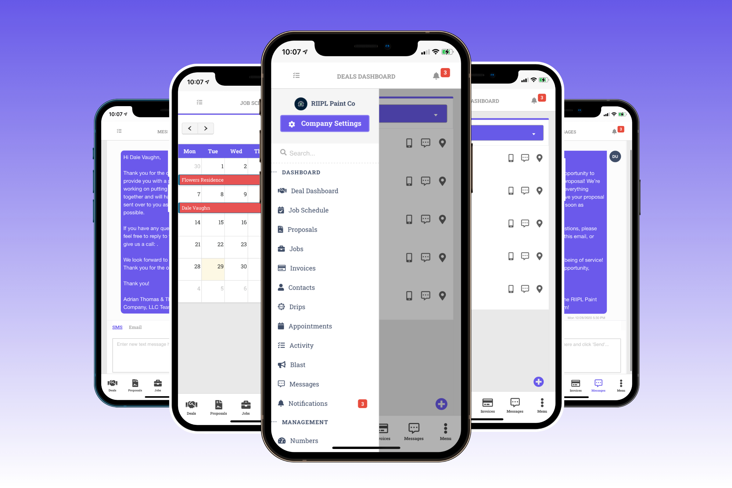 DripJobs CRM For contractors mobile app