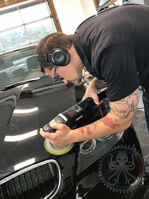 paint correction machine polishing