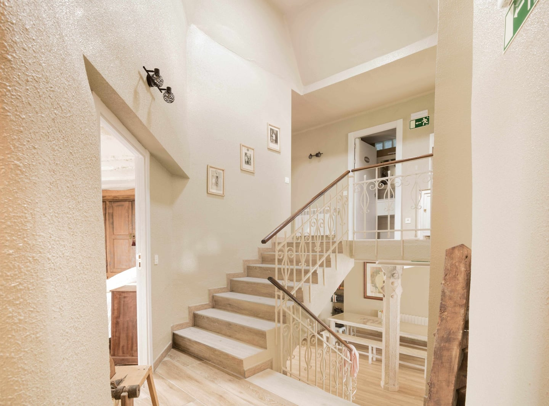 Escalera casa Praxedes Enea en Añorbe