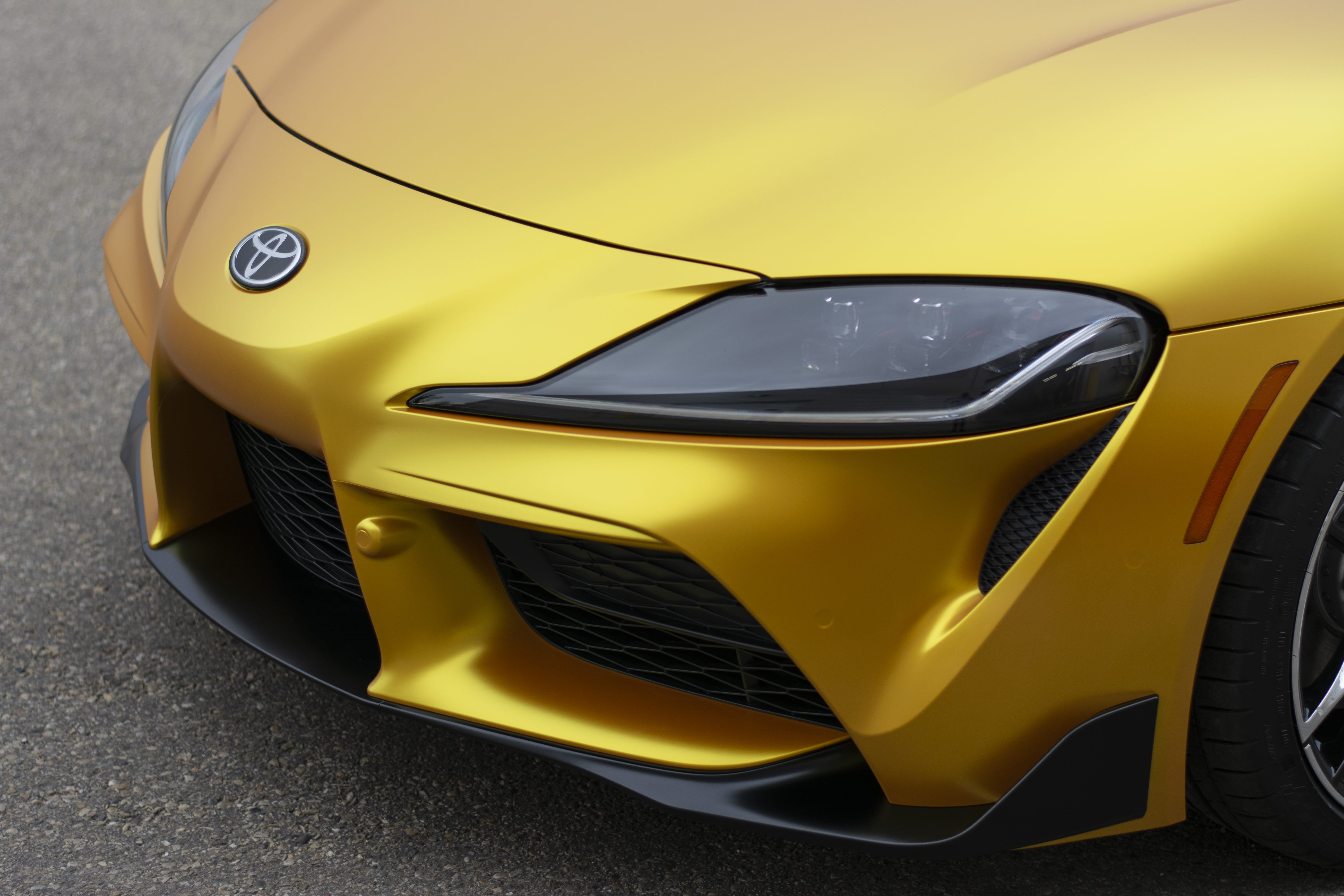 Toyota Supra bumper and hood wrapped.