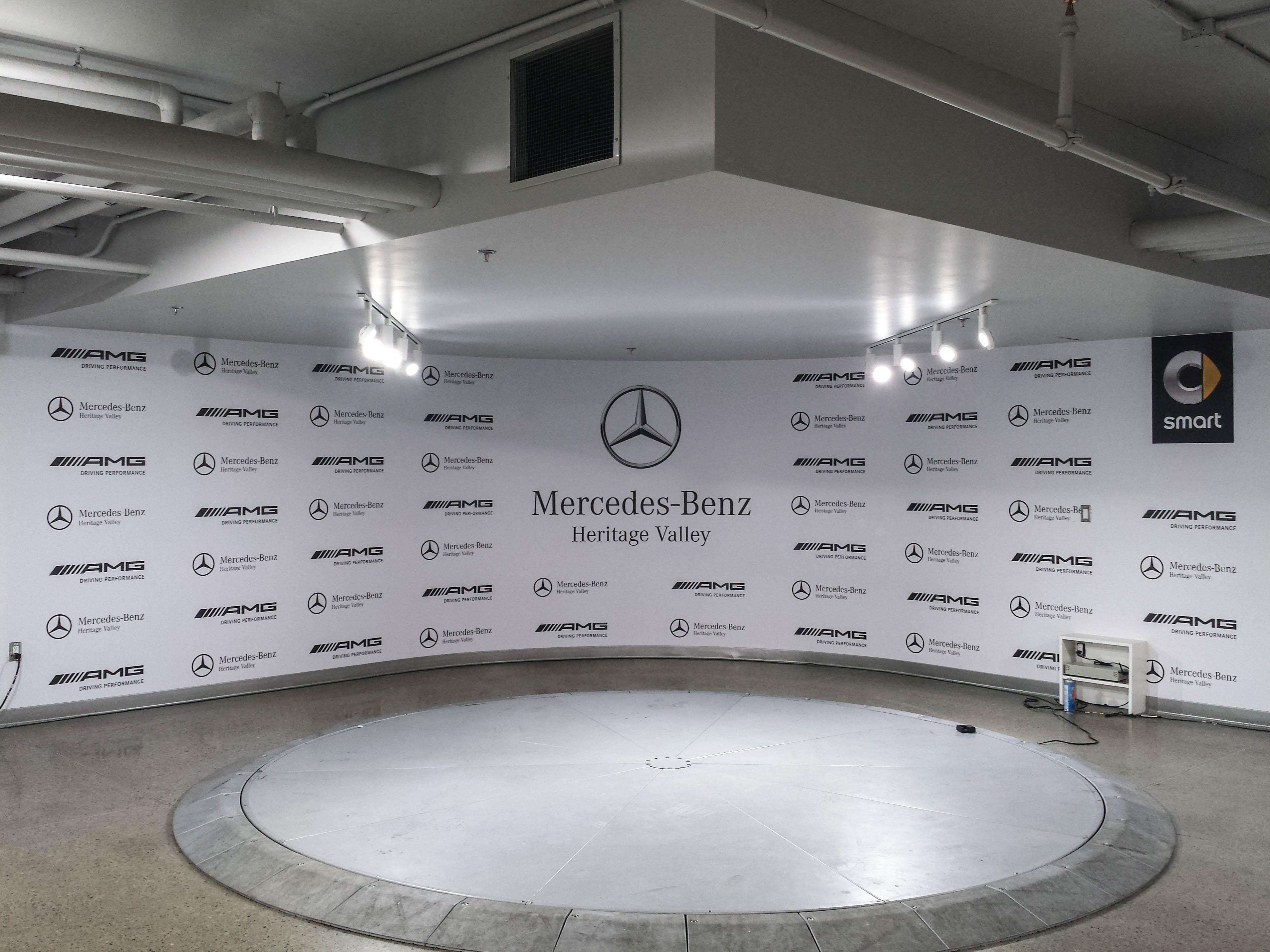 Mercedes Benz wall mural.