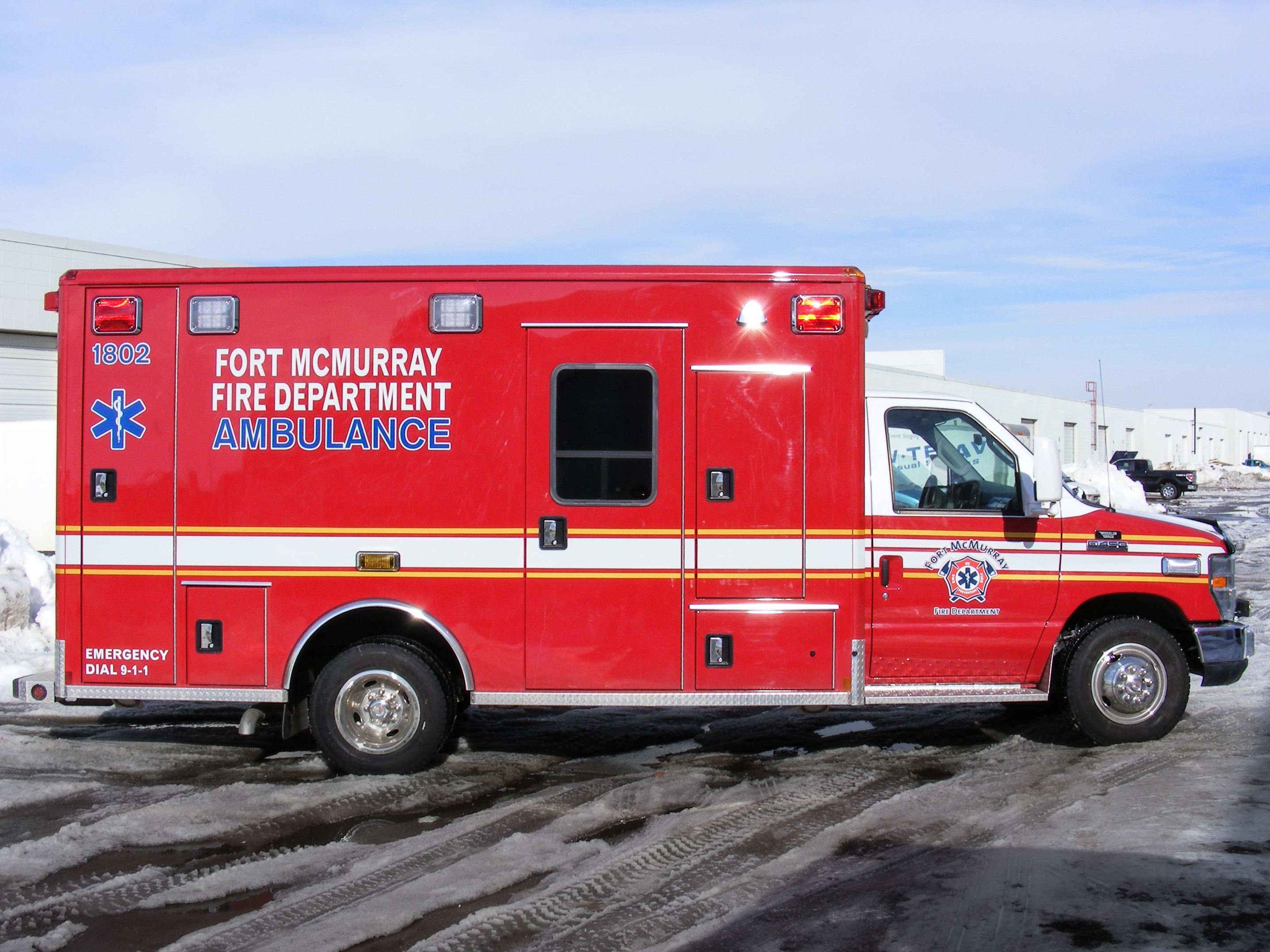 Fort McMurry fire department ambulance decals.
