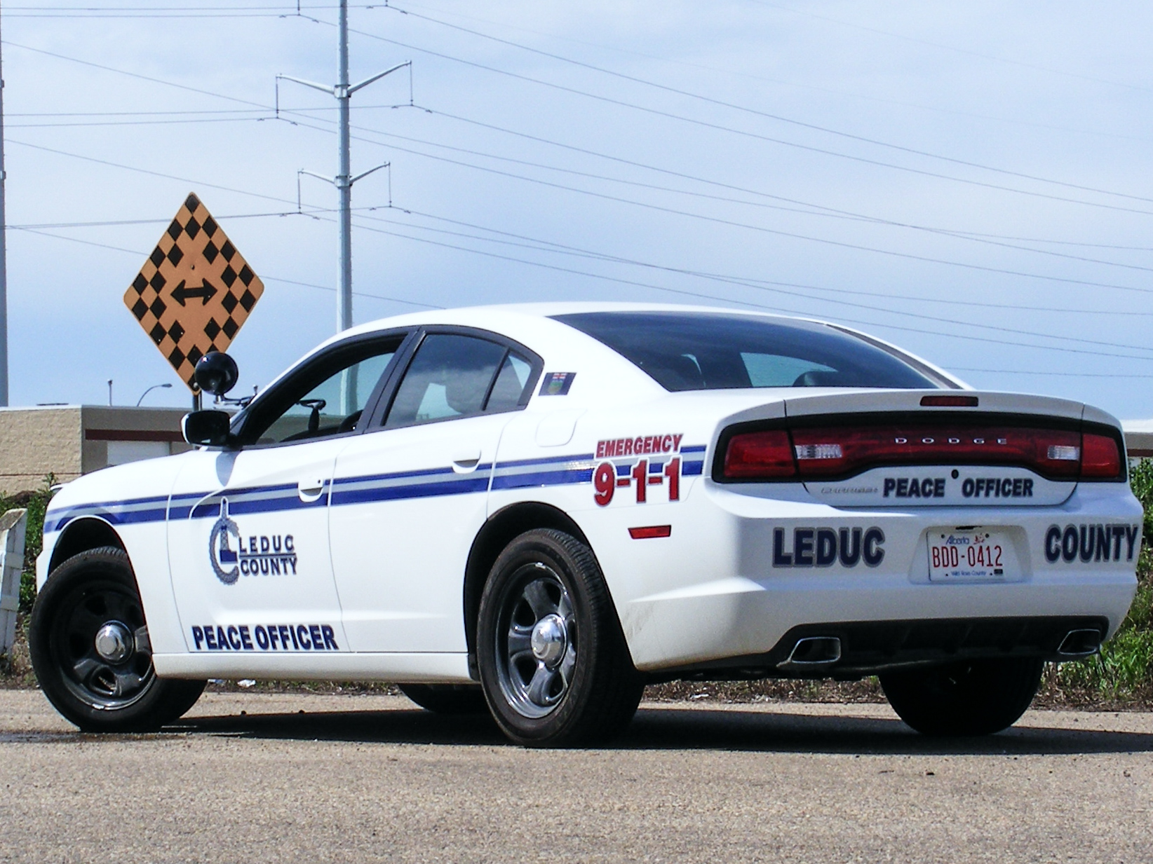 Leduc County Peace Officer decals.