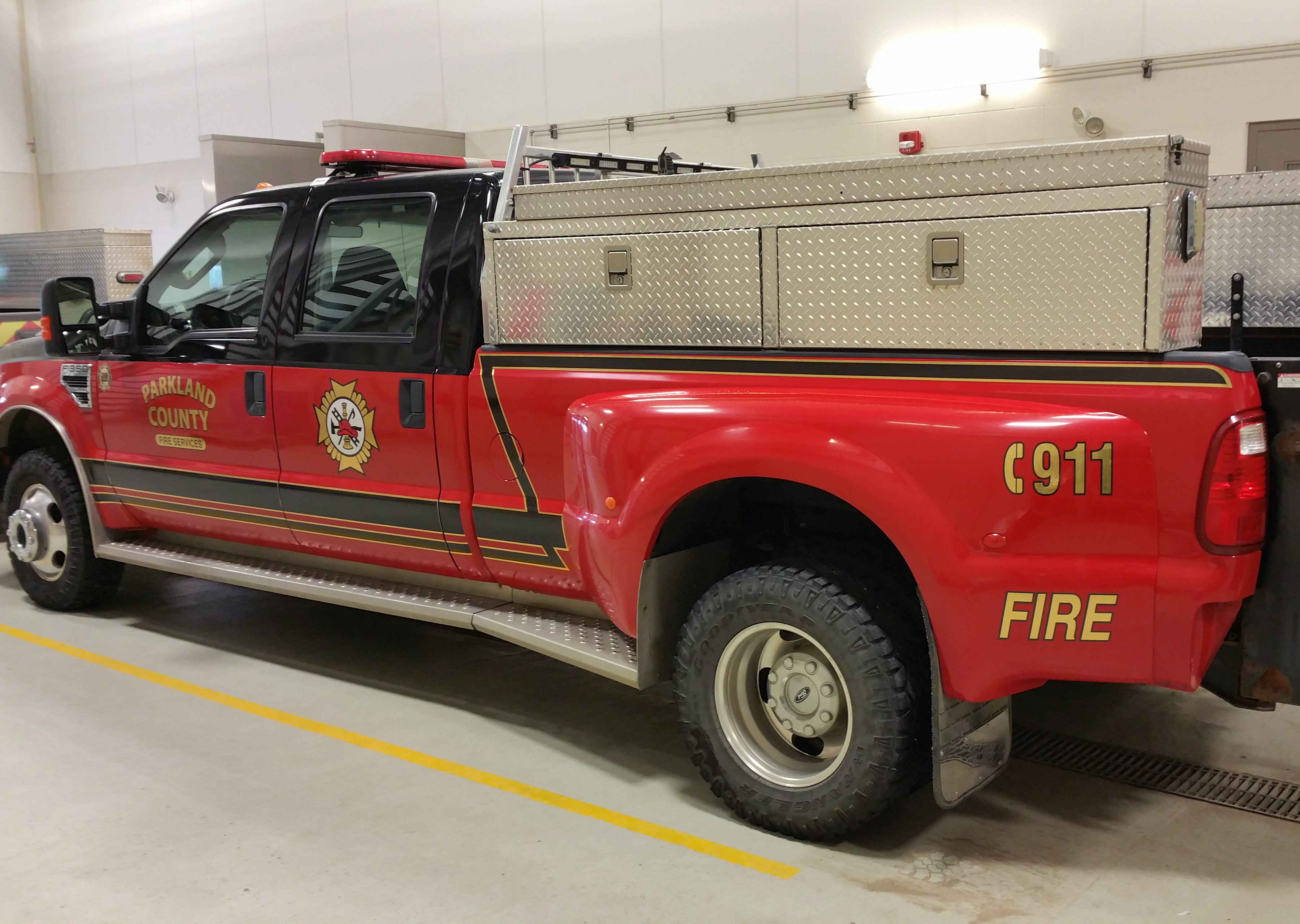 Parkland County fire department reflective decals.