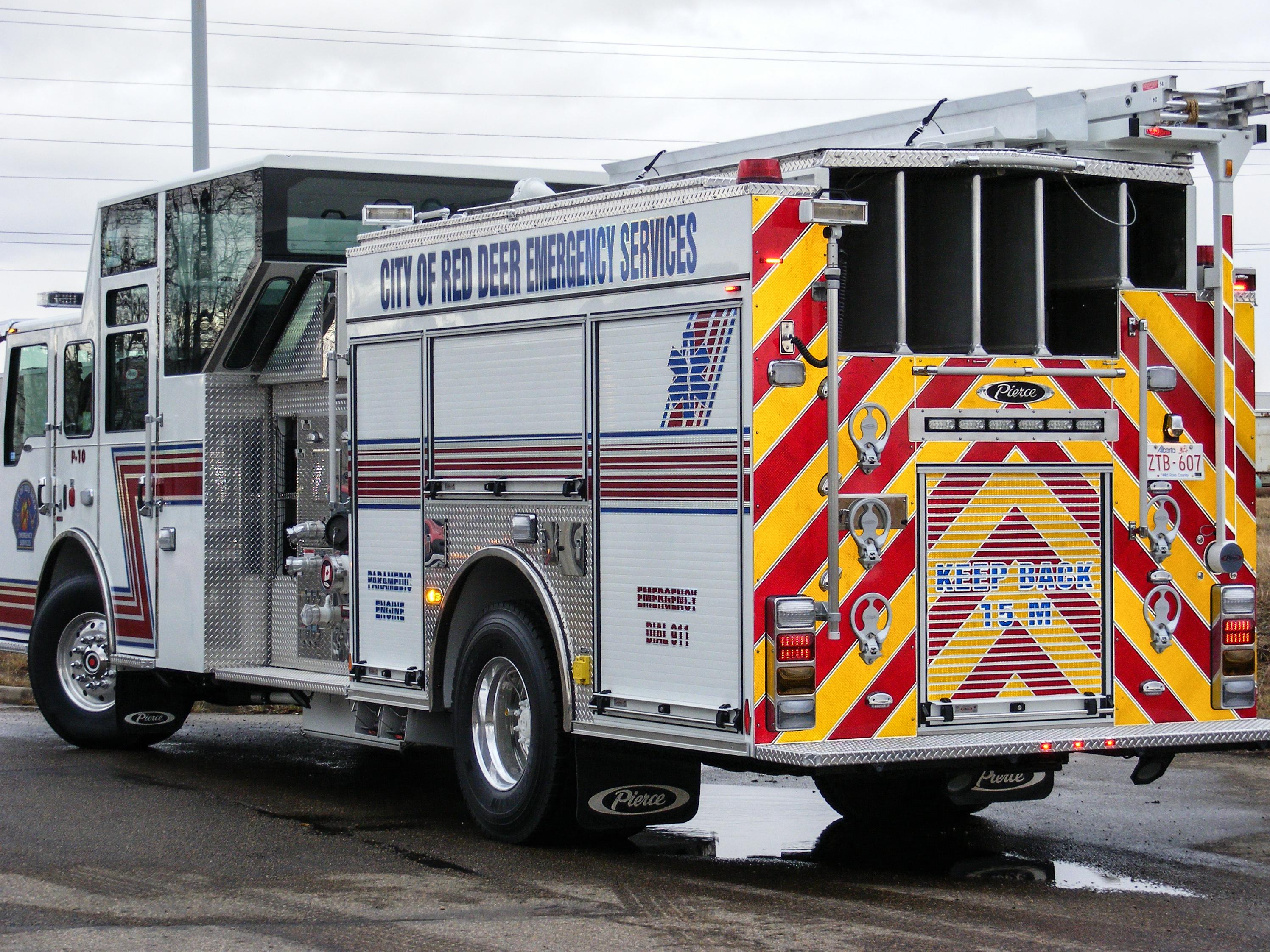 Red Deer Fire Engine HIR decals.