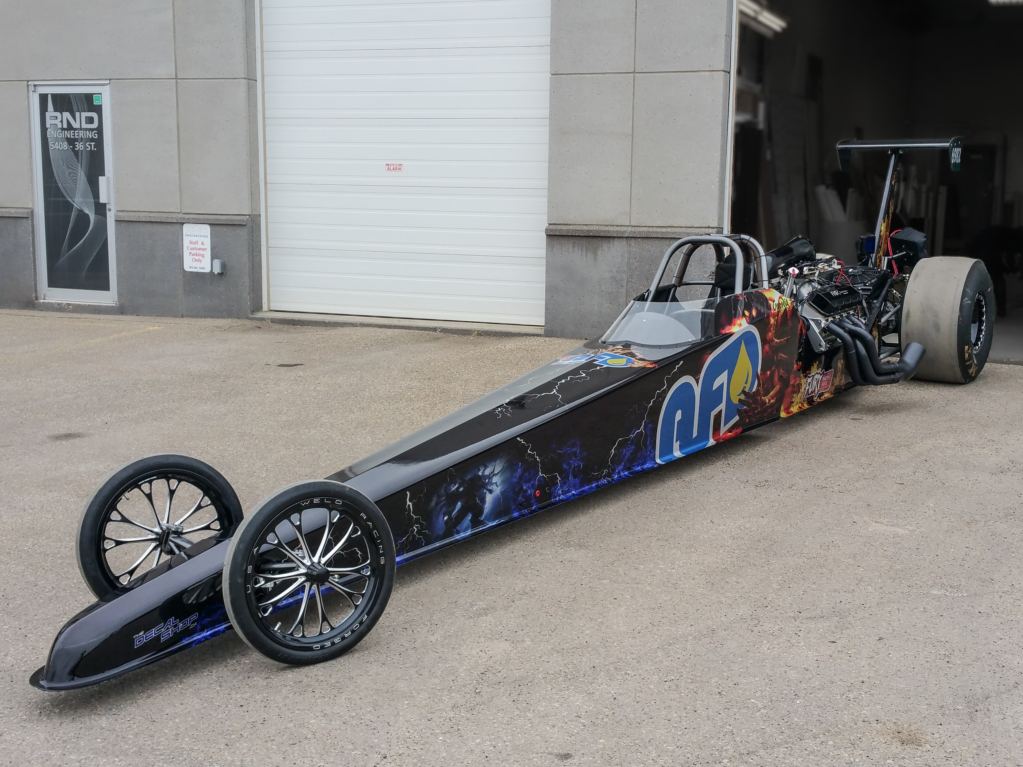 AFD dragster wrap.