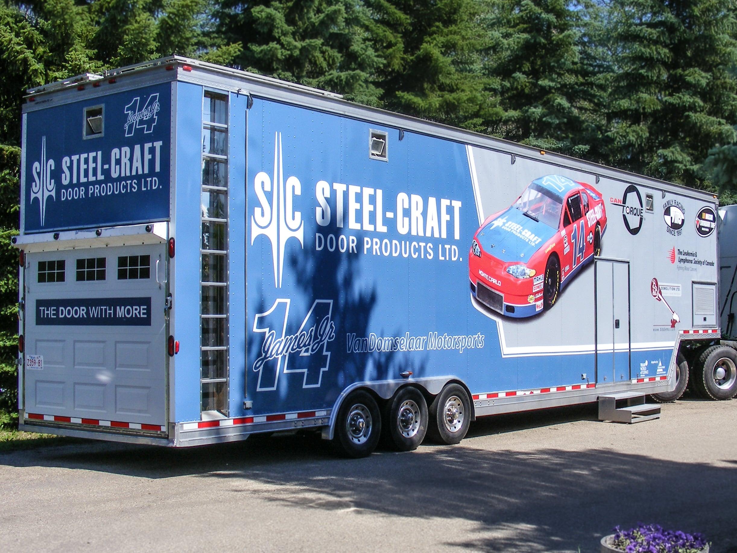 Steel-Craft Door Products trailer wrap.