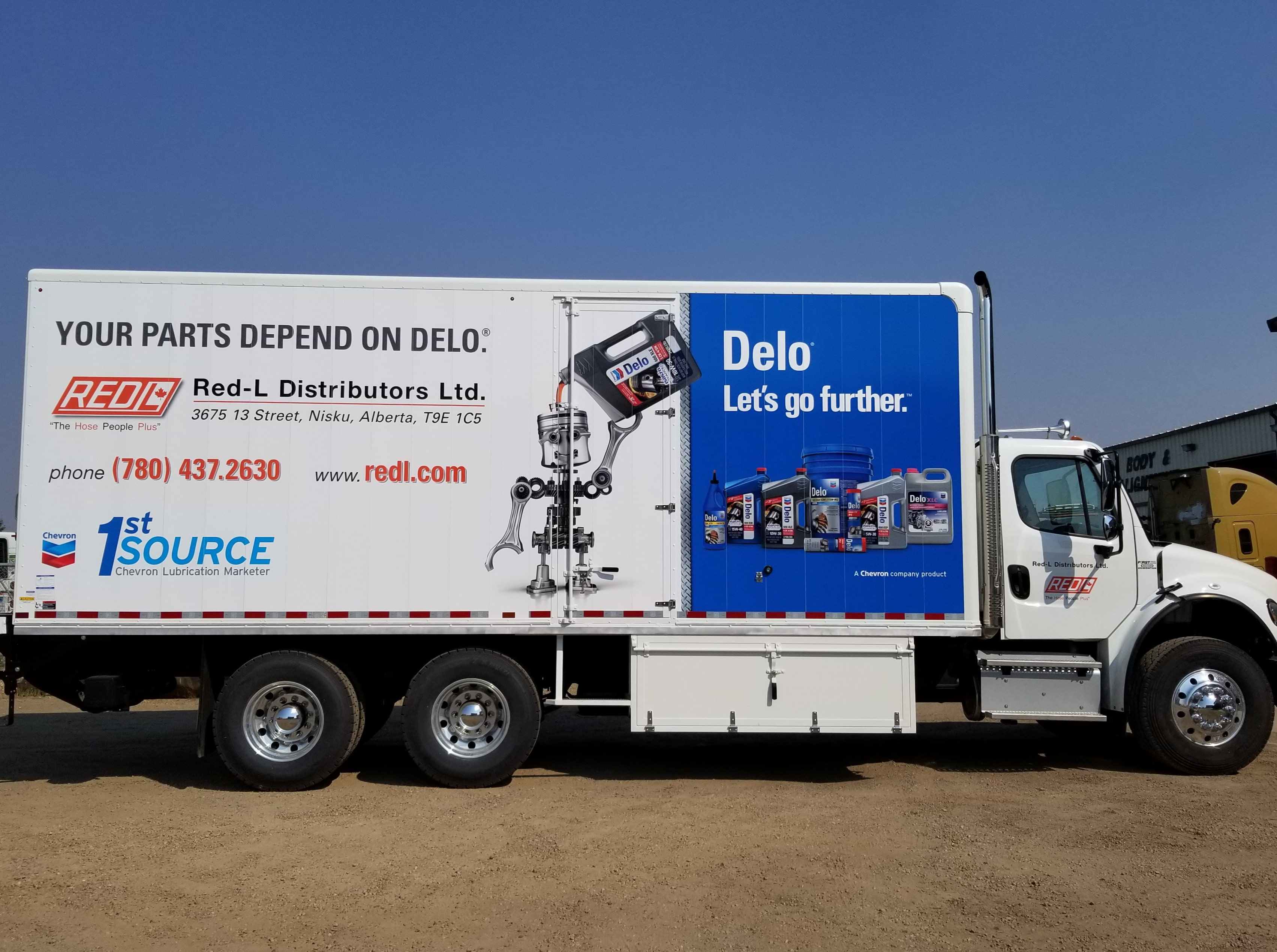 RedL Distributors full trailer wrap.