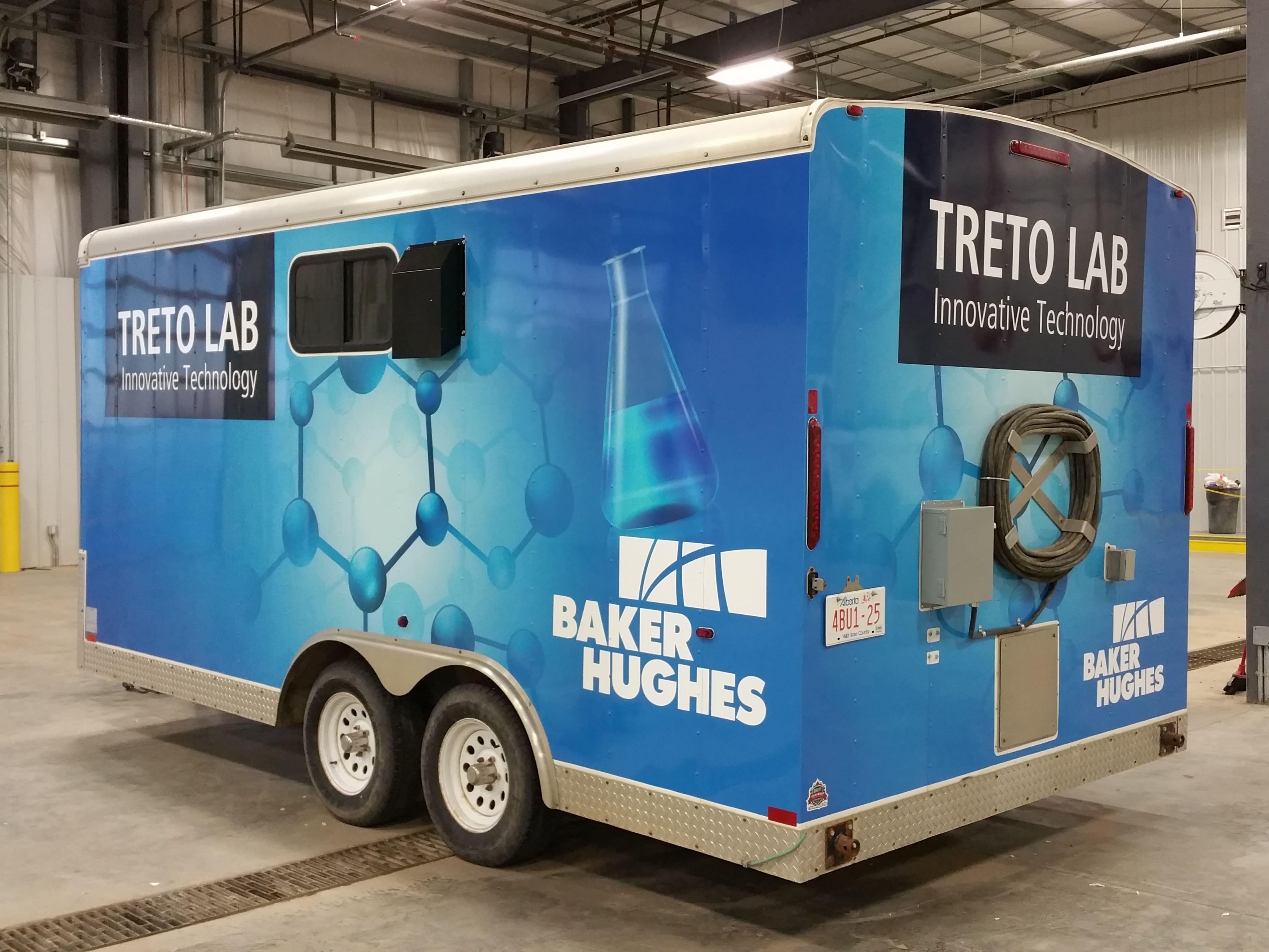 Baker Hughes full trailer wrap.