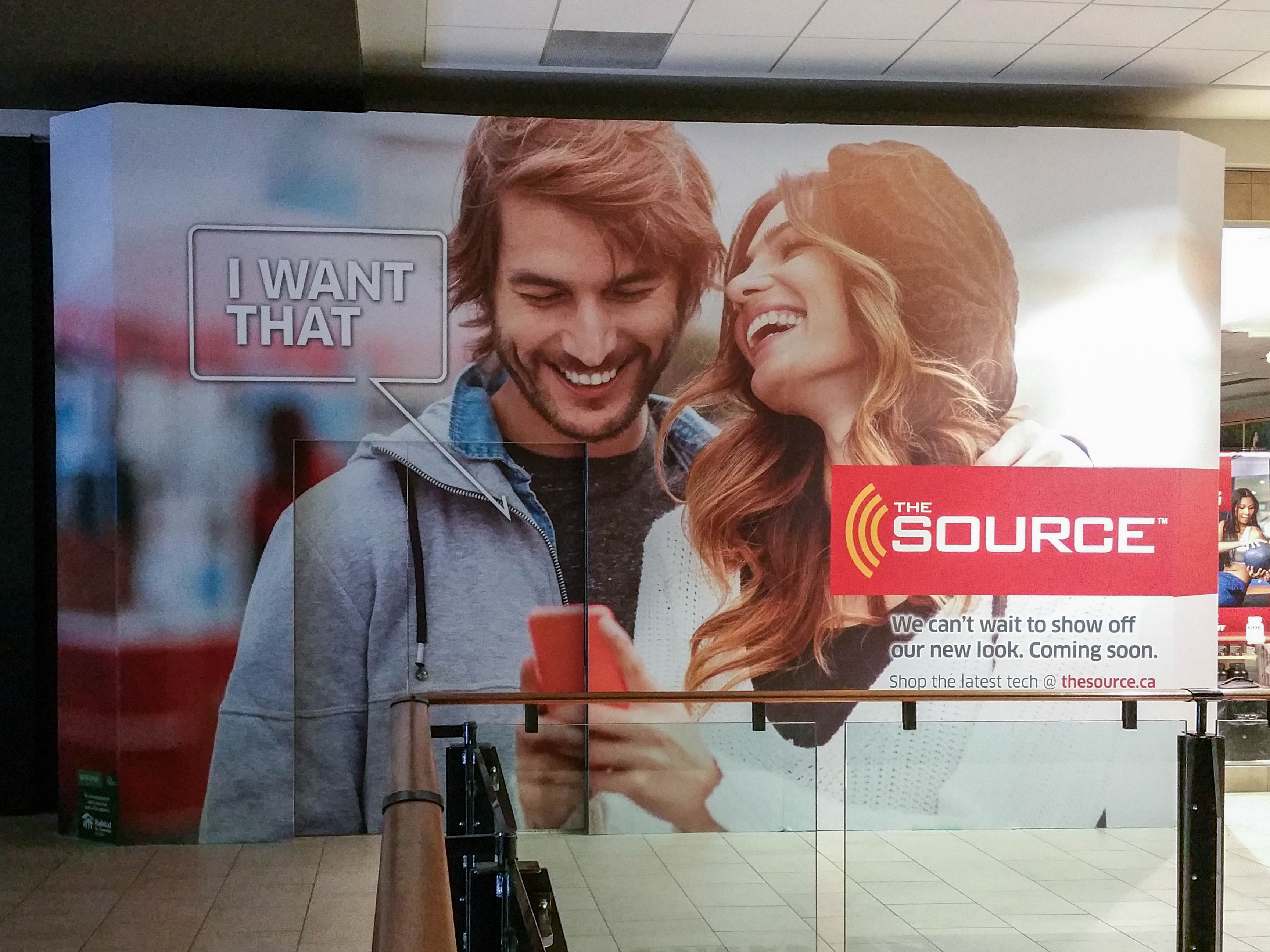 The Source hoarding wrap.