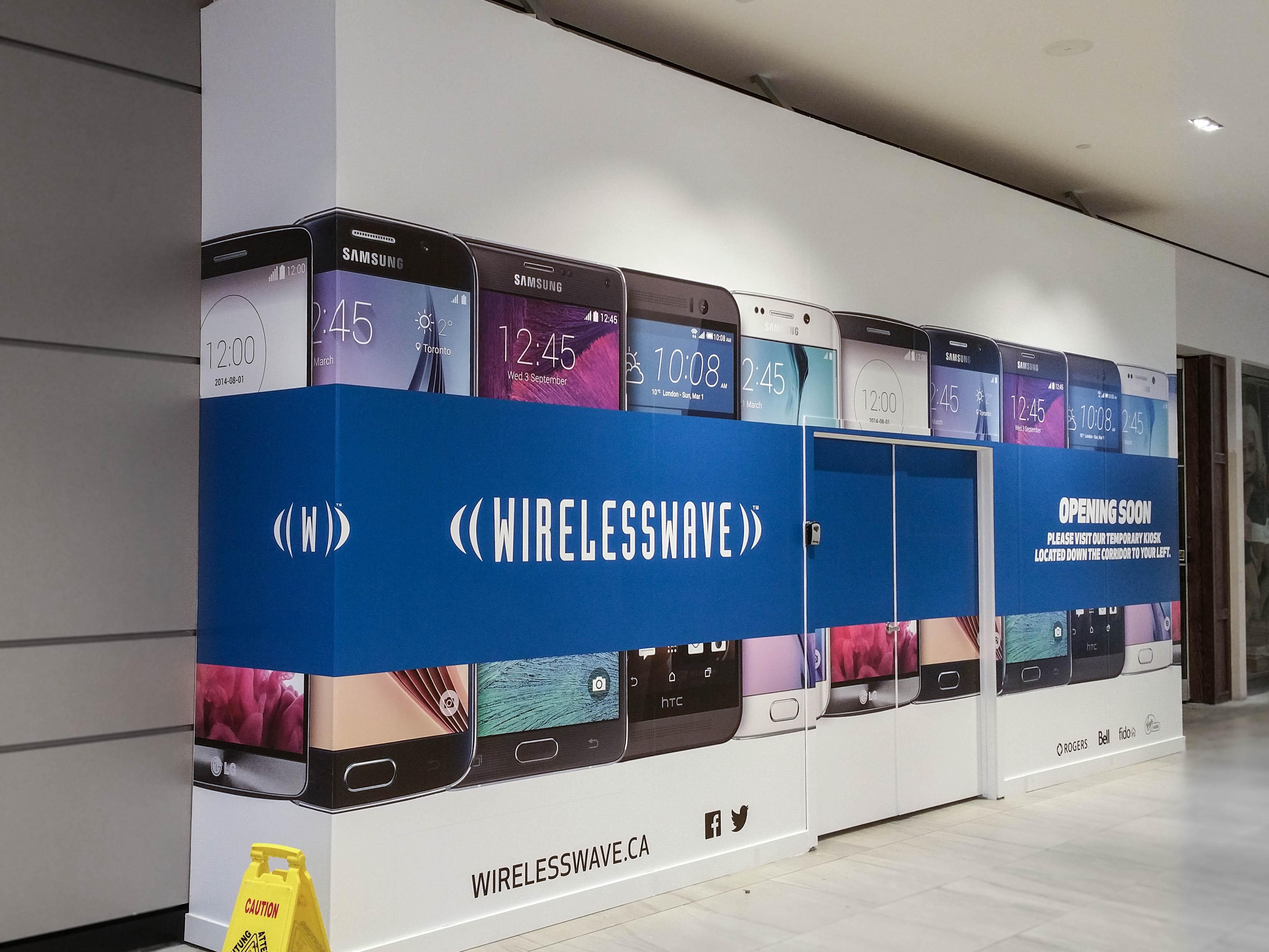 Wireless Wave hoarding wrap.