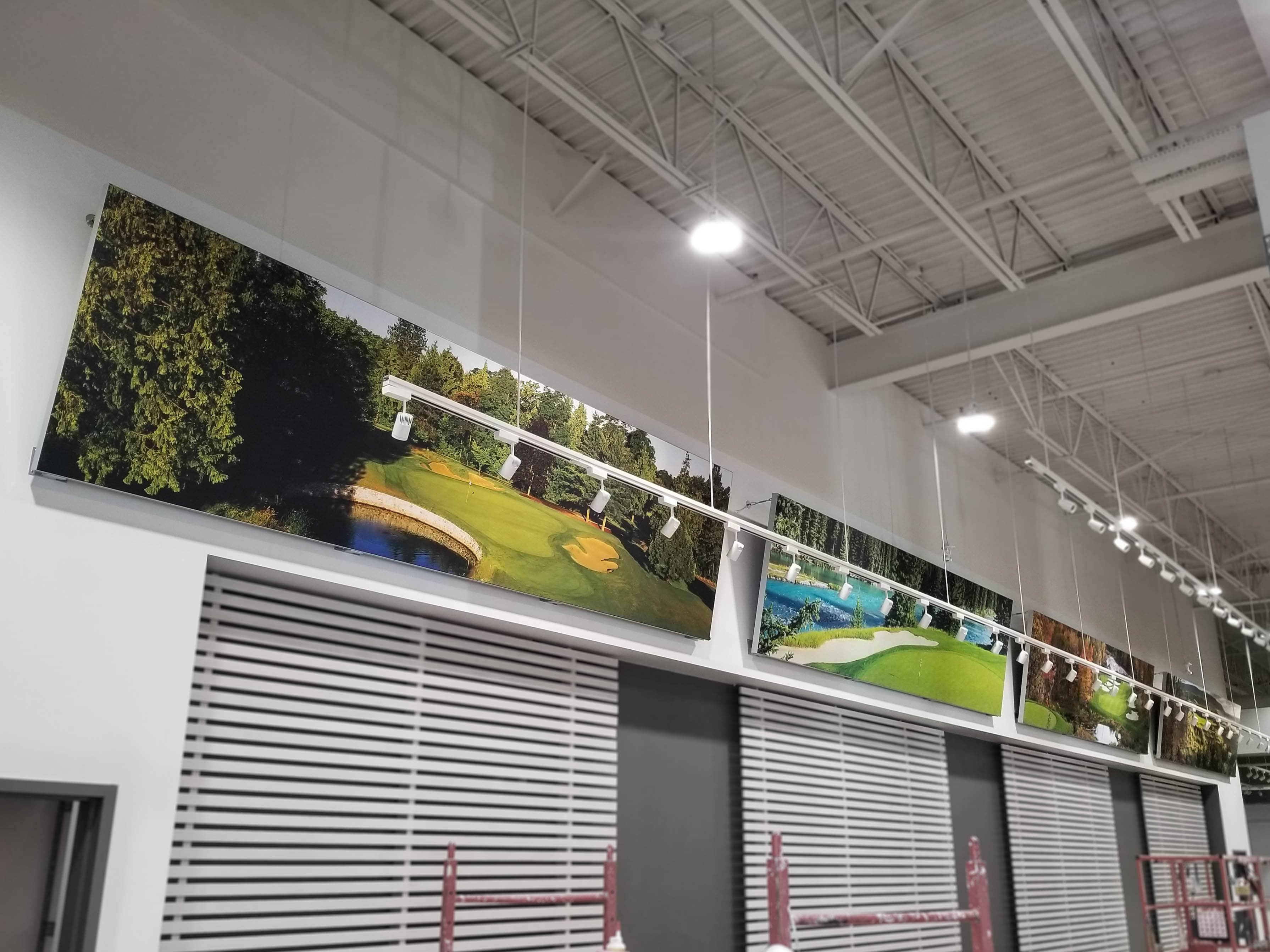 Golf Town stadium frames and SEG.