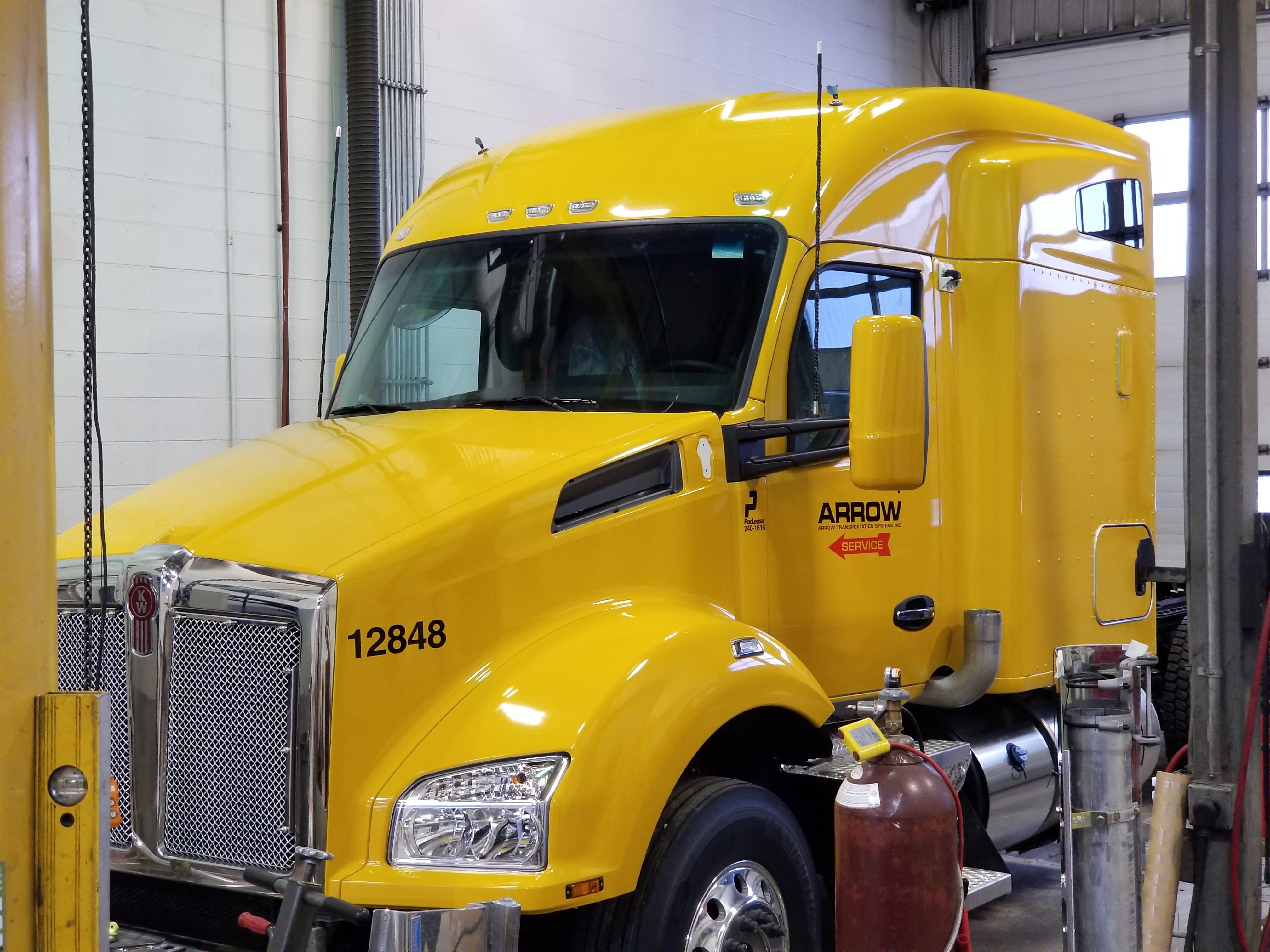 Arrow Transport Semi full wrap.