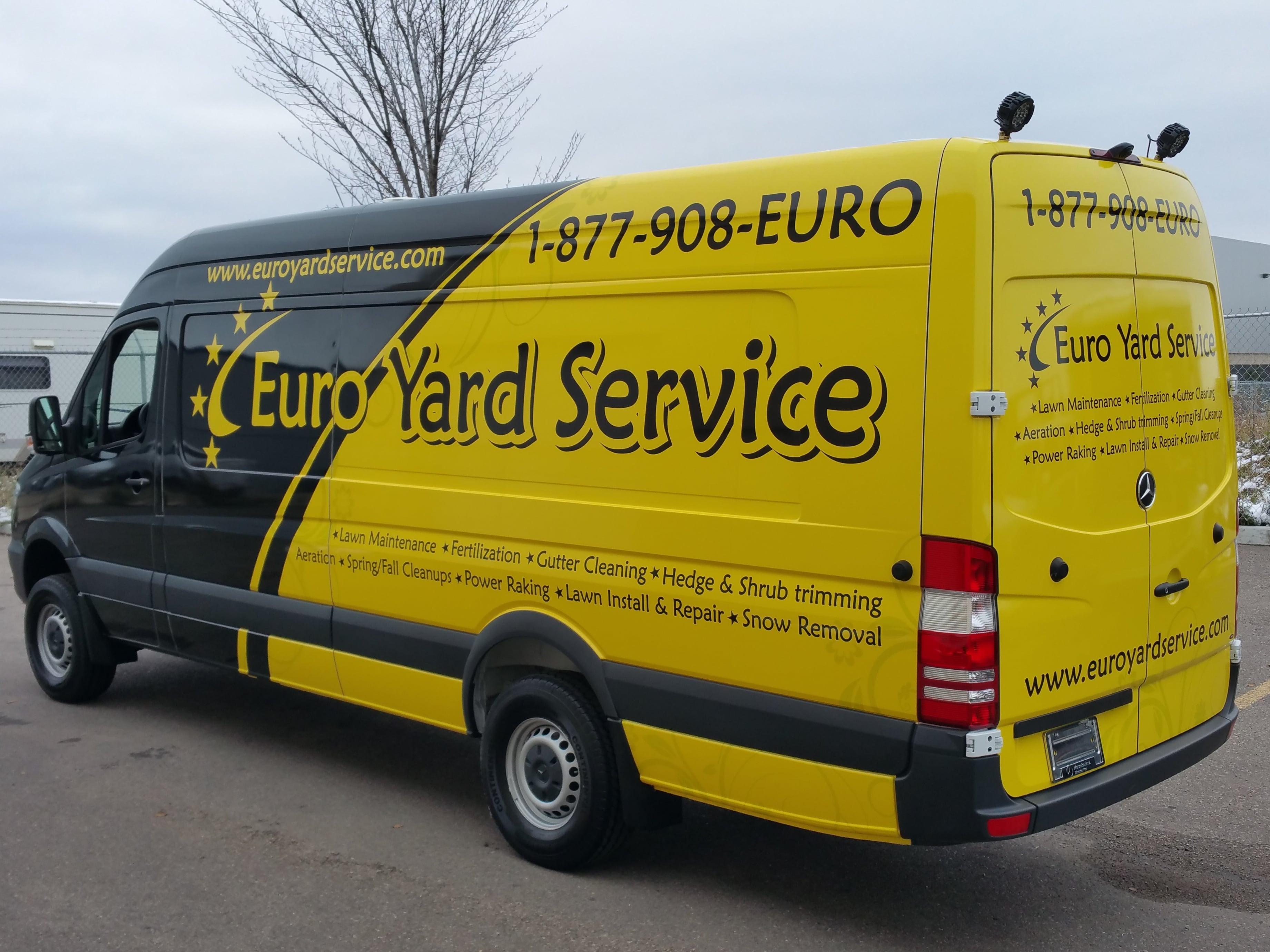 Euro Yard Services full vehicle wrap.