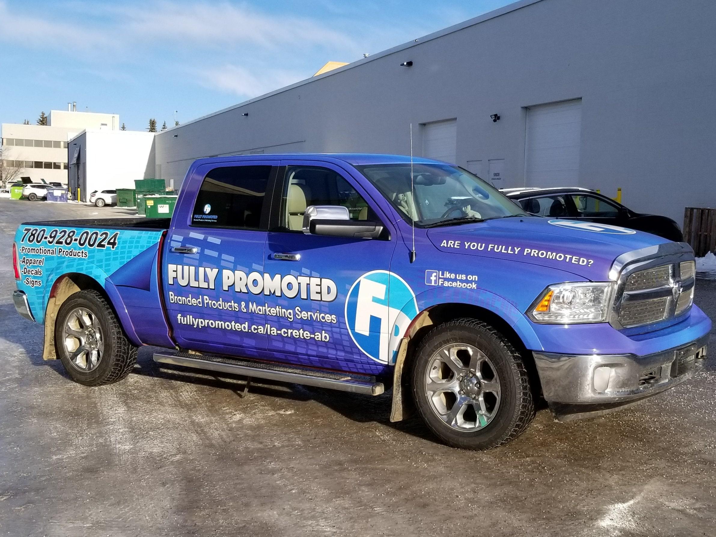 Fully Promoted full vehicle wrap.