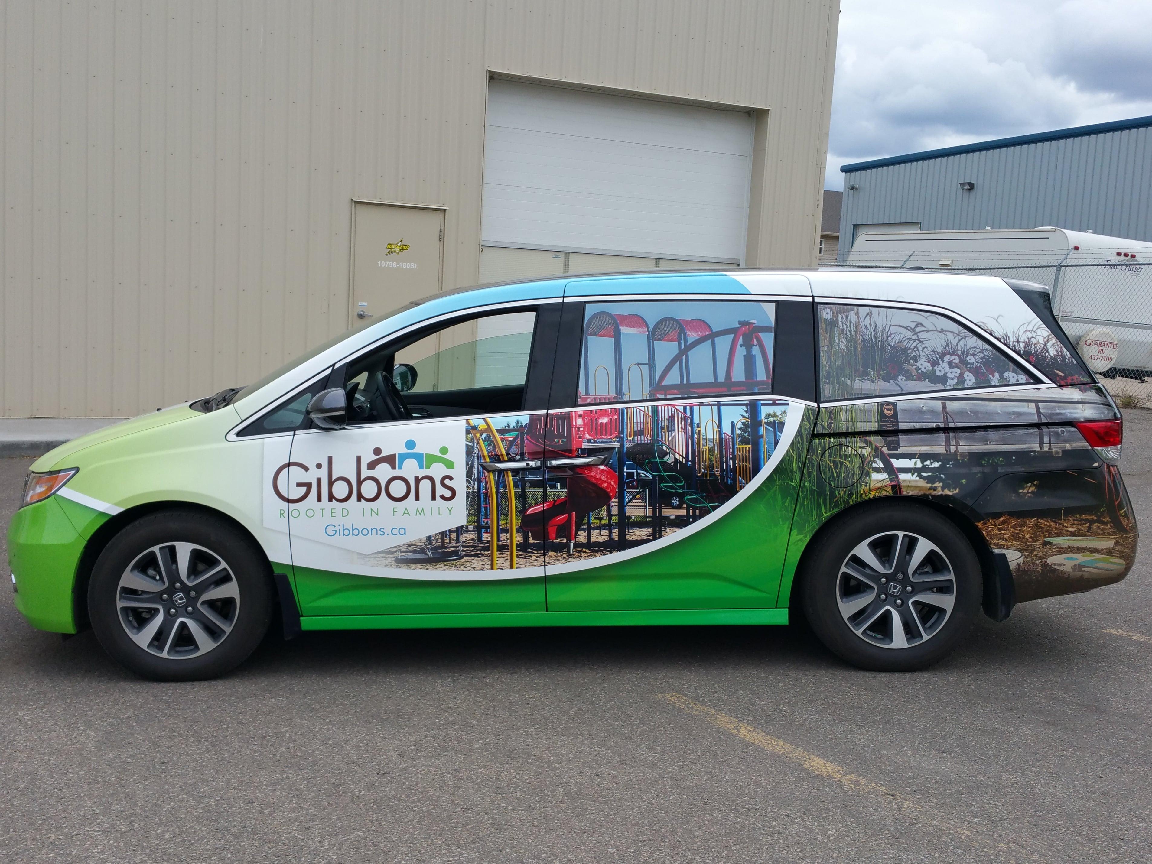 Gibbons van full wrap.