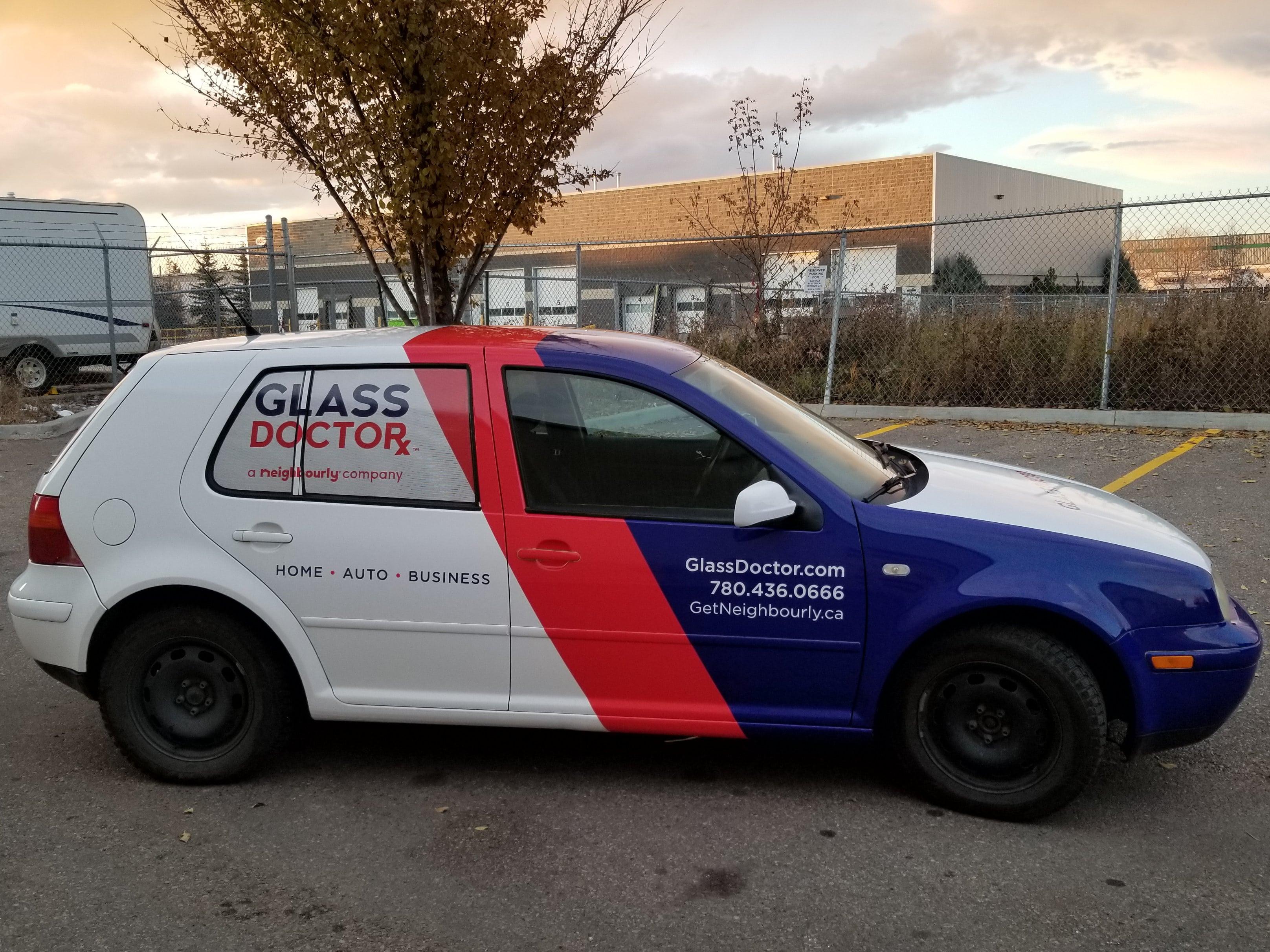 Glass Dr VW full vehicle wrap.