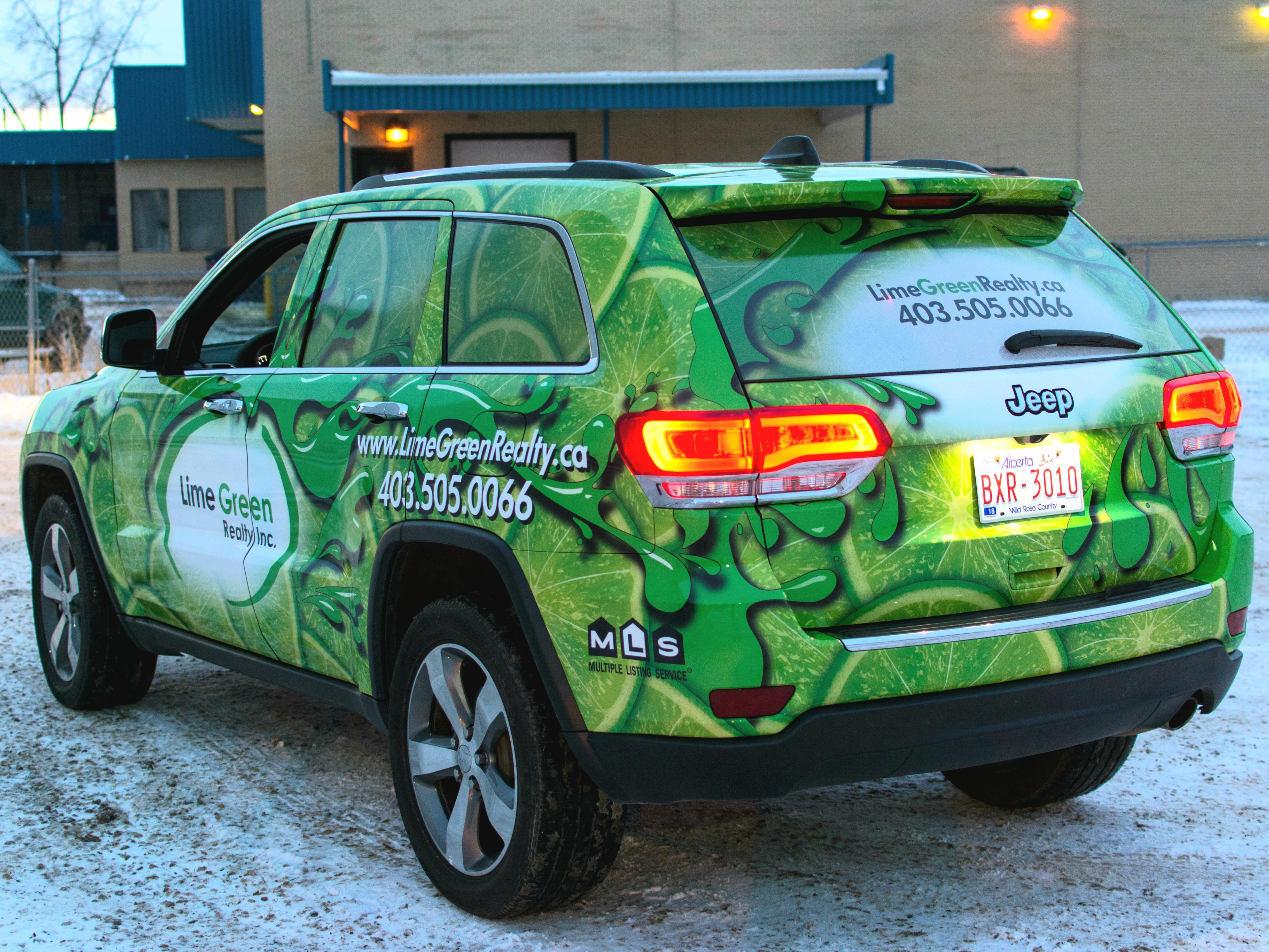 Lime Green Realty full vehicle wrap.
