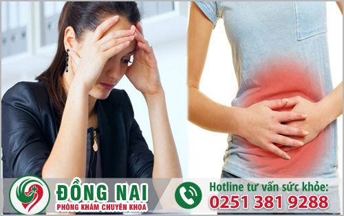 Tâm lý căng thẳng cũng là nguyên nhân gây đau bụng nhưng không có kinh
