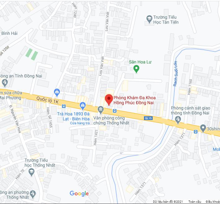 maps Phòng Khám Đa Khoa Hồng Phúc Biên Hòa