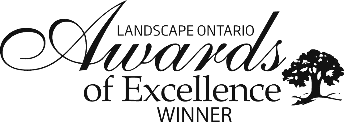 The logo for Landscape Ontario Awards of Excellence winner.