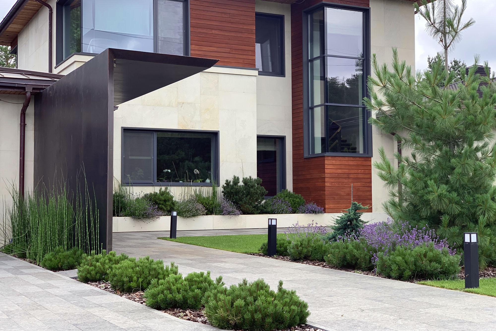 Ландшафтный дизайн коттеджного участка. Фото Магии сада