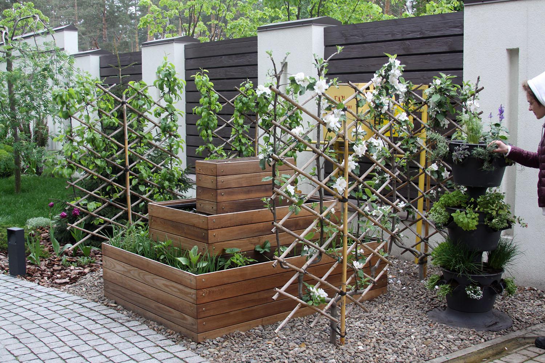 Декоративный огород из ящиков в Киеве