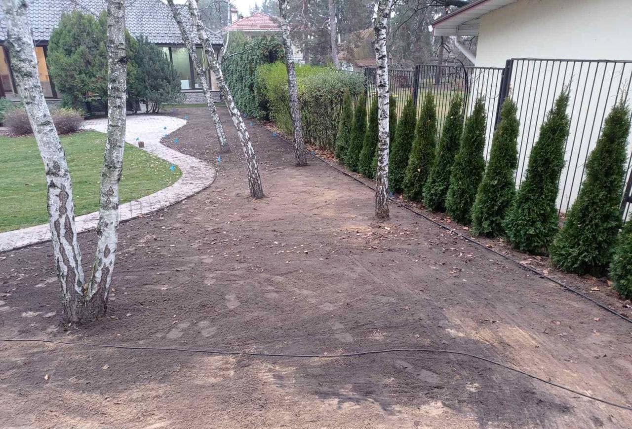 Земляные работы на дачном участке в Киевской области