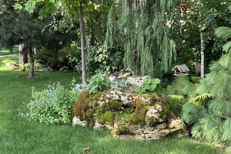 Садовая композиция из камней в Киеве