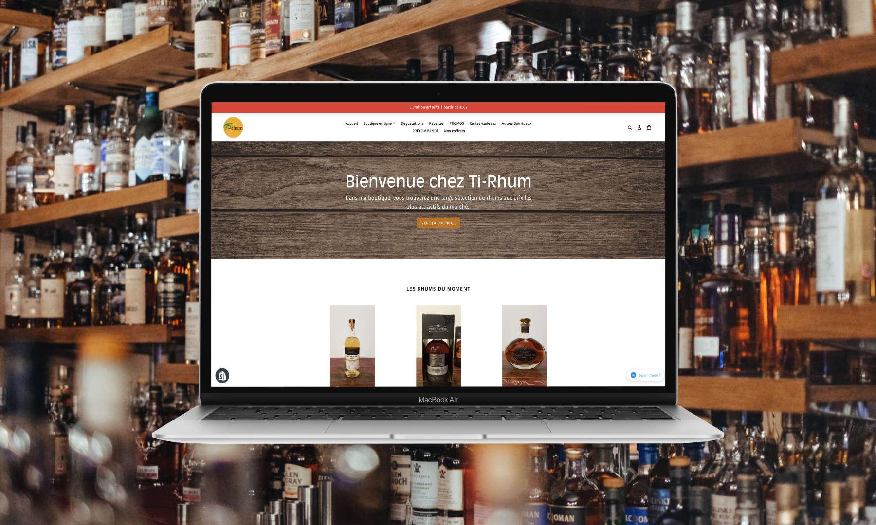 Création d'une boutique en ligne pour Ti-Rhum
