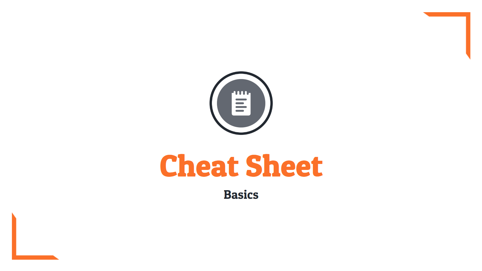 Cheat Sheet Template