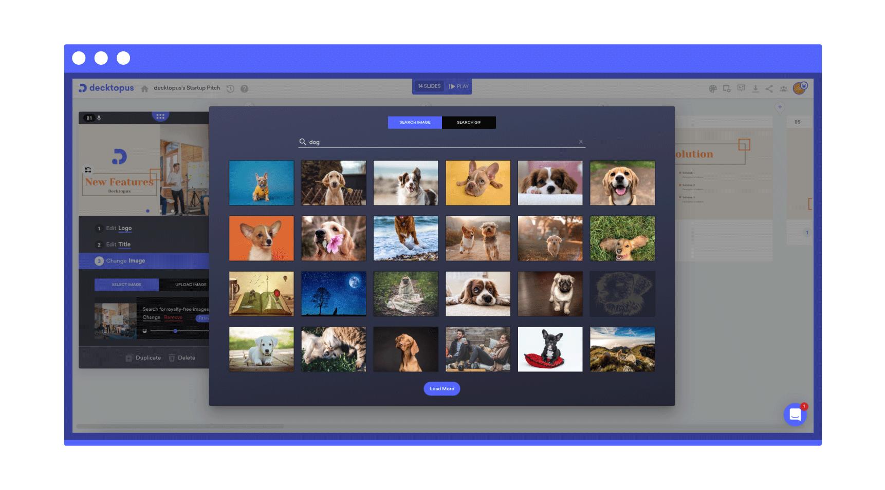 unsplash and pixabay image library of decktopus