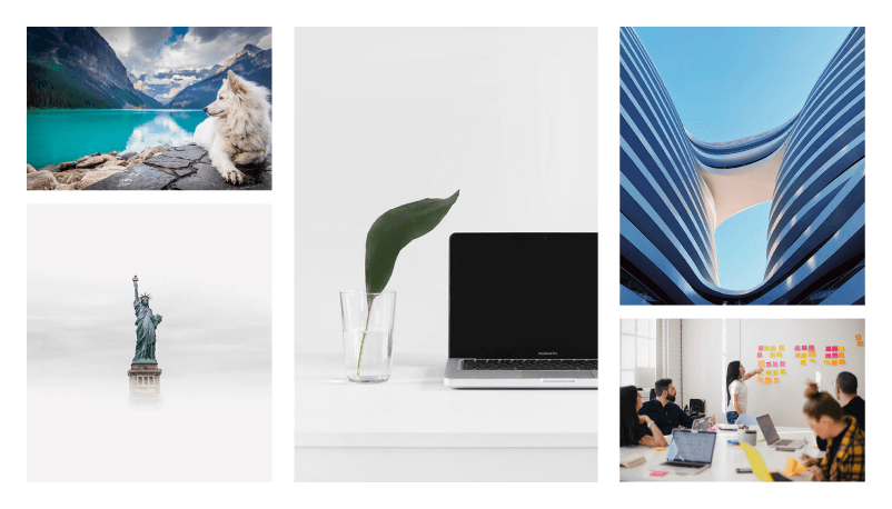 Decktopus beautiful images from Unsplash and Pixabay image libaries