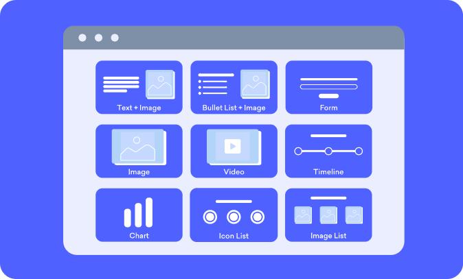 Slide layouts on Decktopus online presentation maker software platform