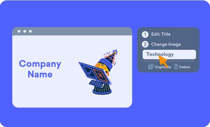 Easy slide edit on Decktopus online presentation maker platform