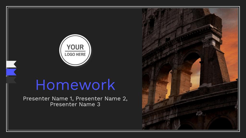 Homework Presentation Cover Slide