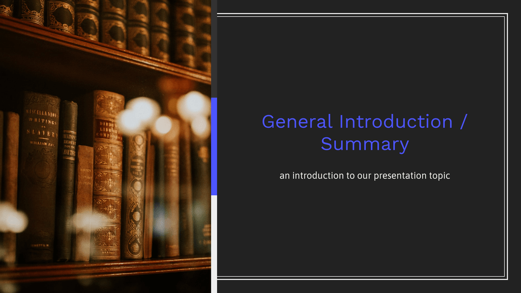 Homework Presentation General Introduction And Summary Slide