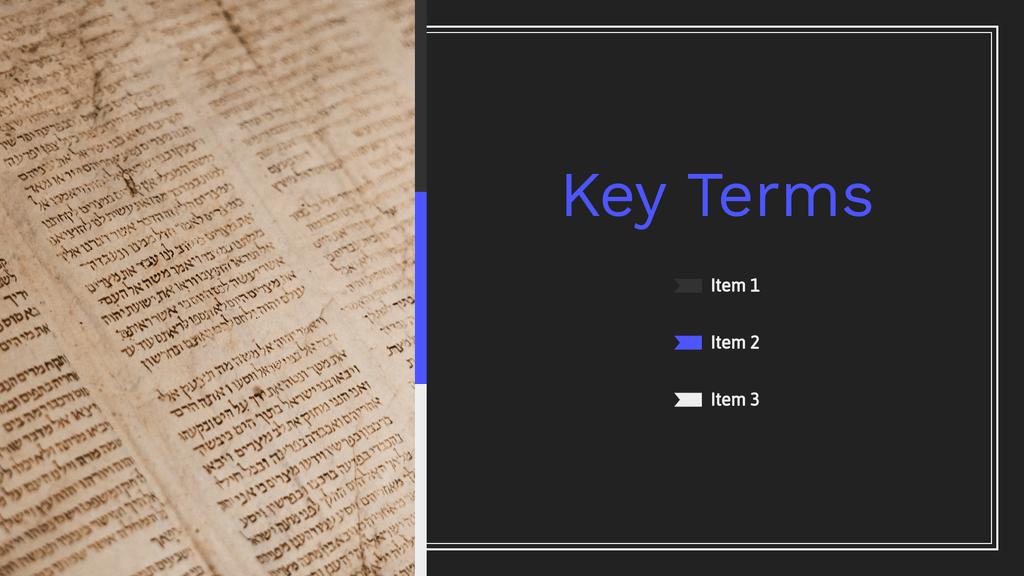 Homework Presentation Key Terms Slide